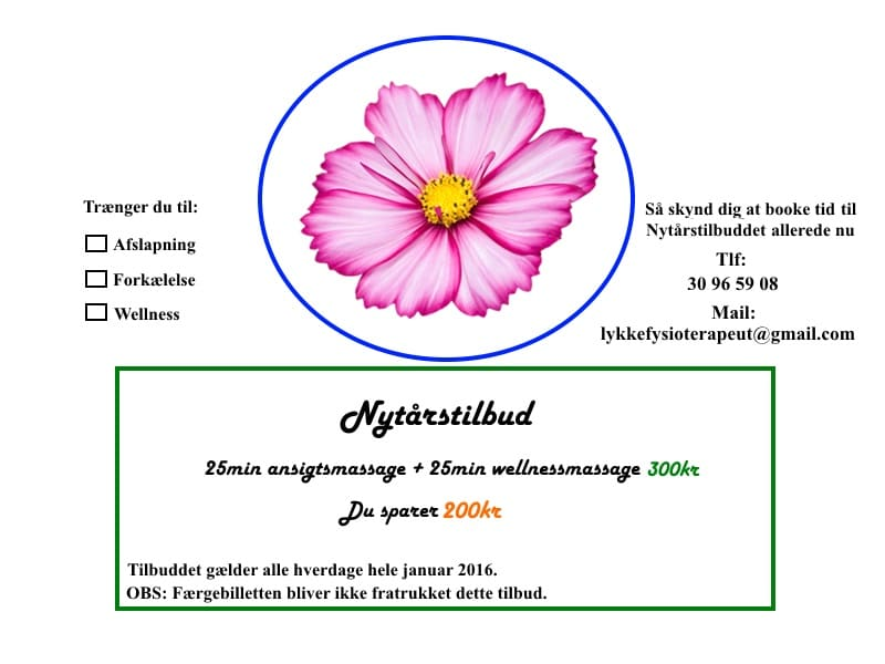Massage & Fysioterapi Esbjerg: Nytårs-tilbud 2015/2016